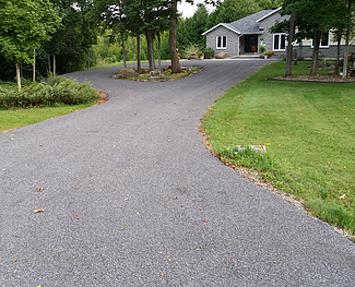 Grey Limestone TAC Driveway